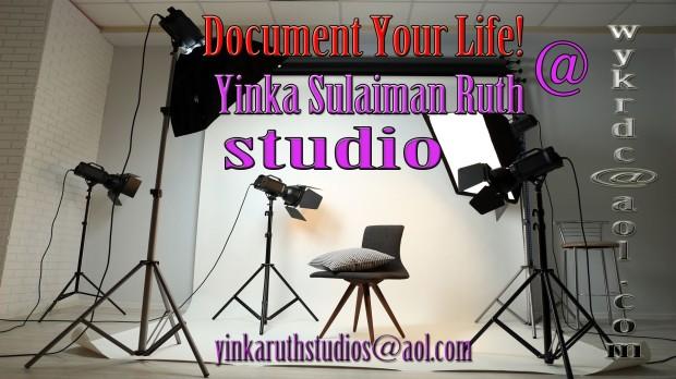 Yinka Studios Logo With Studio Background
